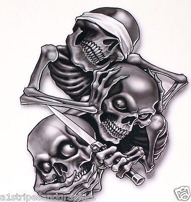 LG 25X30 Hear Speak See Skull Decal Skulls Window Sticker Decal Decals Black Ops