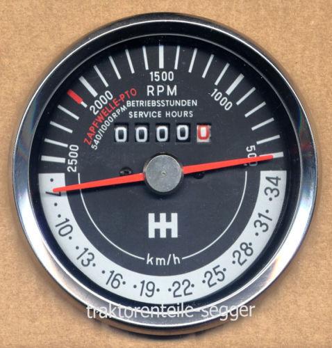 IHC Traktormeter linksdrehend für 523 624  Trecker Schlepper Traktor 293 Foto 1