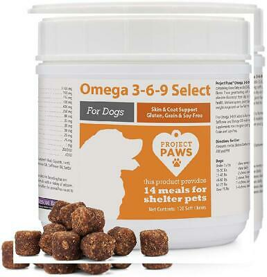 Project Paws Omega 3-6-9 Select Fish Oil For Dogs Krill Oil Skin,Coat (Omega 3 6 9 Supplement For Dogs)
