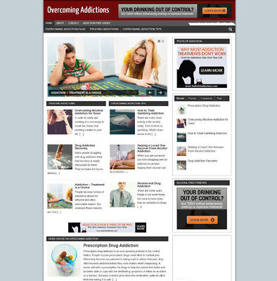 Overcoming Addiction Blog Website With Affiliates And New Domain Hosting