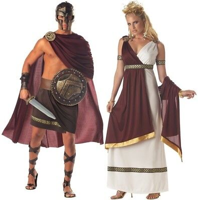 Roman Warrior & Empress Adult Couple Costume Halloween Dress California Costumes