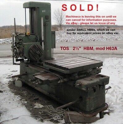 Tos 2-12 Inch Horizontal Table Boring Mill Facing Head Tailstock.h63a Sold