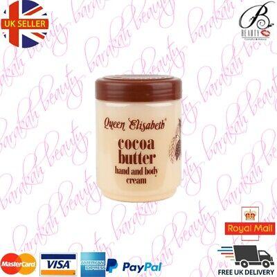 Queen Elizabeth Cocoa Butter Hand and Body Cream Jar 500 ml