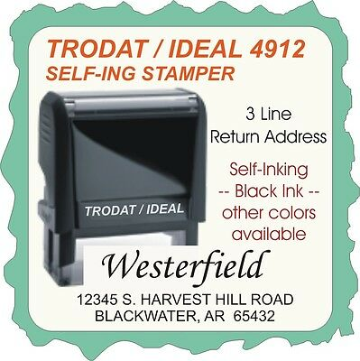 Return Address Trodat 4900 Series Self Ink Custom Stamp Homeofficebusiness