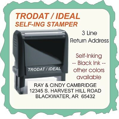 Officehome Return Address Aerial Font Trodatideal 4900 Series Self-ink Stamp