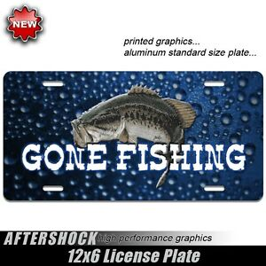 Bass fishing license plate boat gone fishing for Dicks fishing license