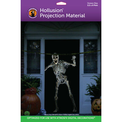 5'x 9' Hollusion™ Rear Projection Screen for AtmosFearFX Halloween Window Videos (Halloween Projection)