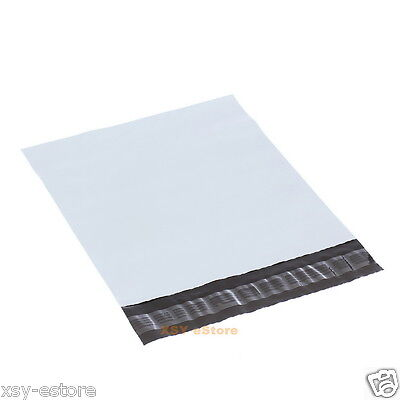 200 White Poly Mailers Envelopes Courier Mailing Bags 7.5