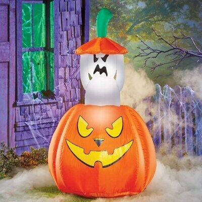 Airblown Aufblasbar Beleuchtete Pop-Up Animierter Geister Halloween Dekoration