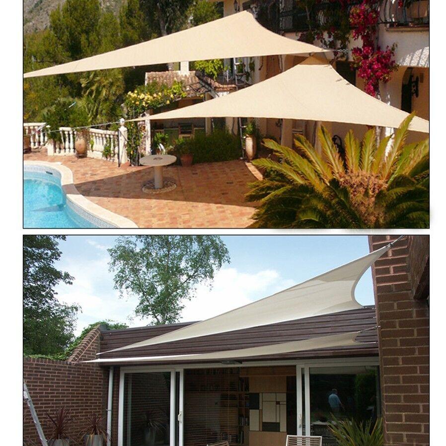 Sun Canopy For Backyard : 12? Sun Shade Sail UV Top Cover Canopy Triangle for Outdoor Patio