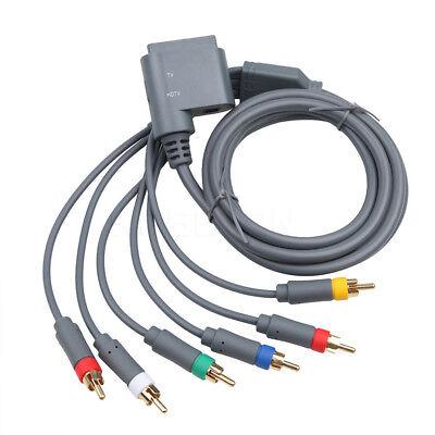 100% Original Microsoft Xbox 360 Component AV Video Cable Adapter Lead Cord...