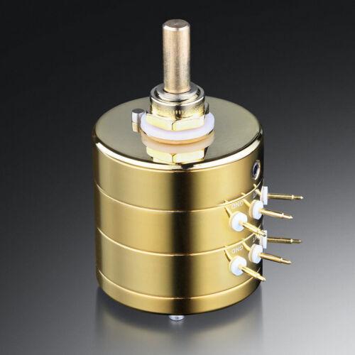 EIZZ Premium 24-Step Stereo Attenuator HIFI Volume Potentiometer LOG 100K 250K