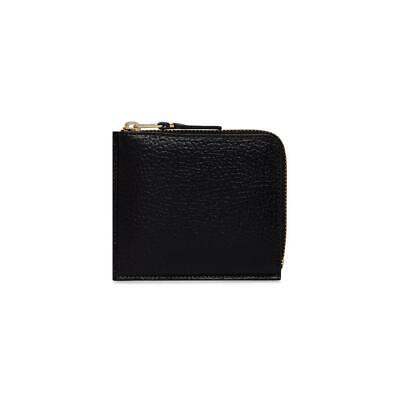 Comme Des Garçons SA3100IC Black Grained Leather Unisex Wallet BNIB $139 50% OFF