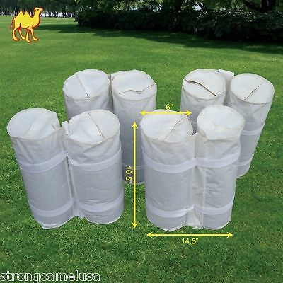 Pack of 8 White Canopy Weights Bag Leg Anchor Kit for Pop up