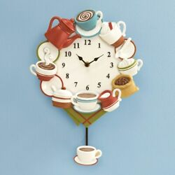Coffee Time Coffee Cup  Wall Clock