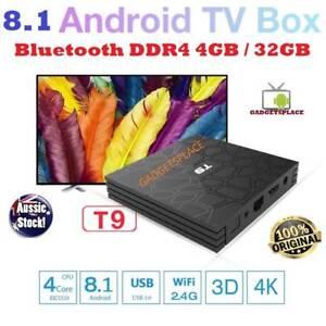Newest 4GB 32GB Android 8.1 TV Box T9 RK3328 Quad Core USB 3.0 Doveton Casey Area Preview