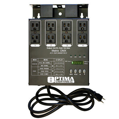 Matrix DMX Dimmer Pack as CH DMX-4 & Elation DP-DMX20L