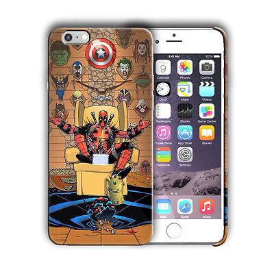 Super Hero Deadpool Iphone 4 4s 5 5s SE 6 6s 7 8 X XS Max XR 11 Pro Plus Case n4