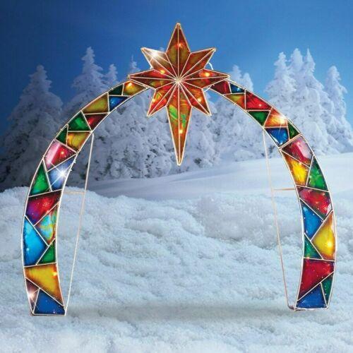 Lighted Outdoor Arch w/ Star of Bethlehem Christmas Nativity Scene Decoration