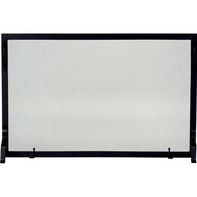 39 inch black wrought iron fireplace panel