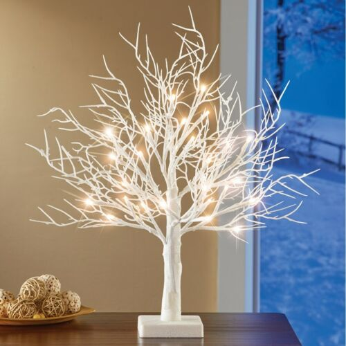 Stunning Lighted LED Frosted White Tree Christmas Tabletop Centerpiece
