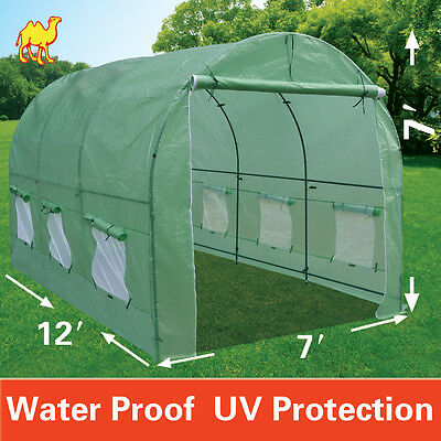New Hot Green House 12'X7'X7′ Larger Walk In Outdoor Plant Gardening Greenhouse