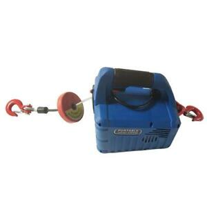 450KGX7.4M Portable Household Electric Winch With Wireless Remote 110V#300183
