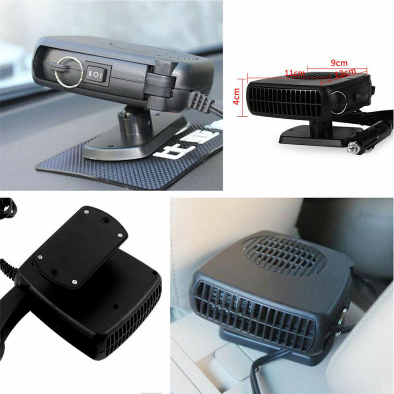 12v Car Auto Fan Ceramic Heater Heating Windscreen Demister Defroster Portable