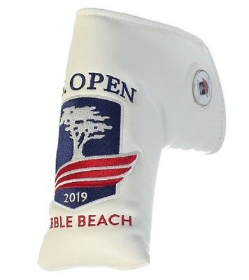 2019 US OPEN (Pebble Beach) WHITE PRG Blade PUTTER COVER w/Removable BALL MARKER