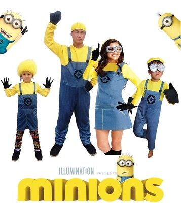 Minion Costume Anime Mini Despicable Me Cosplay Suits Boys Girls Men Woman - Mini Me Costume