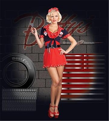 SEXY CAR MECHANIC BETTYS PIN UP GIRL COSTUME DRESS RL5865 NEW](Mechanic Costume)