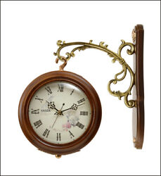 A18KCAT201 Kaiser Double sided Solid wood Hanging Clock