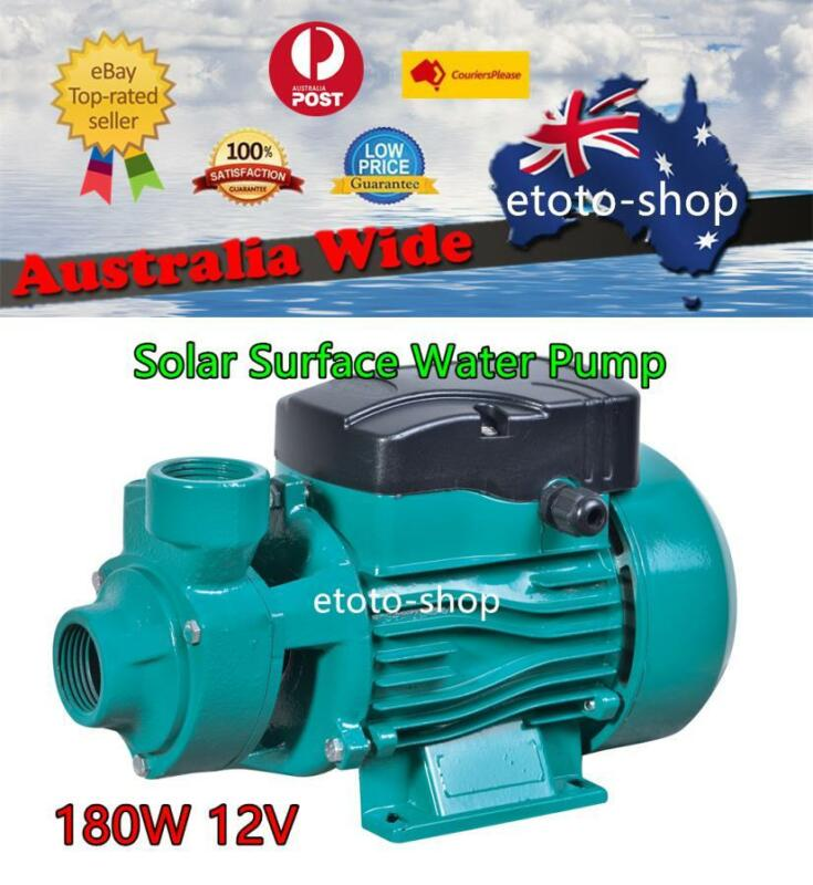 180W 12V DC SOLAR PRESSURE WATER PUMP Livestock Irrigation Off Grid Home