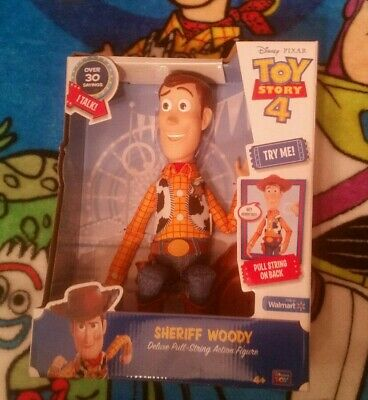 LOW BIN!!Disney Pixar Toy Story 4 Woody Deluxe Pull-String Talking Action Figure