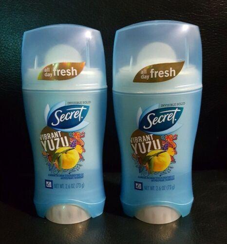 2x Secret 2.6 Oz Vibrant Yuzu All Day Invisible Solid Antipe