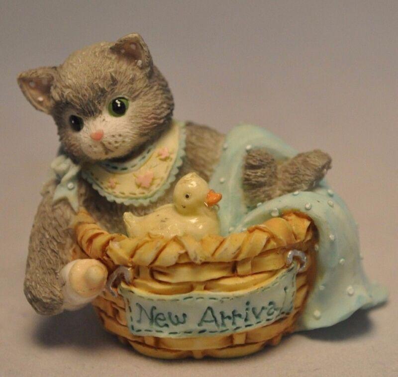 Calico Kittens: New Arrival - Kitten & Duck in Basket - 167355 - Miniature