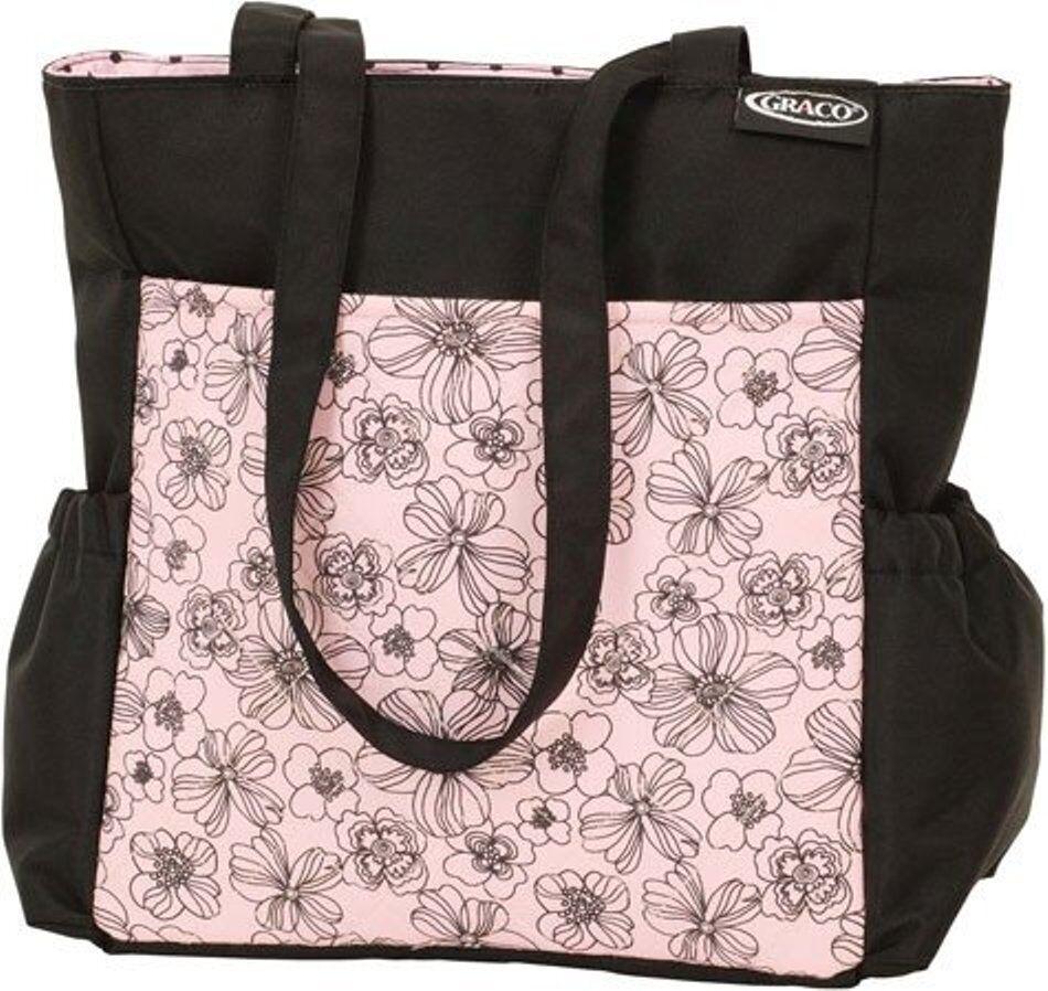 Modern Diaper Bag Black/pink