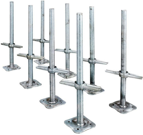 Scaffolding Leveling Jacks Parts 24 Inch Galvanized Steel Scaffold 8 Pack New