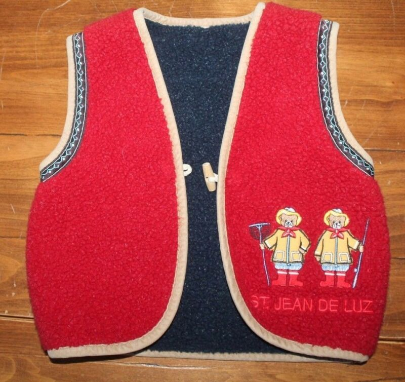 Kids    Vintage    French Wool       Vest       ST. JEAN DE LUZ