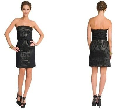 NWT NEW SEE by CHLOE Strapless wool and jacquard DRESS SIZE IT 42 USA 6 BLACK