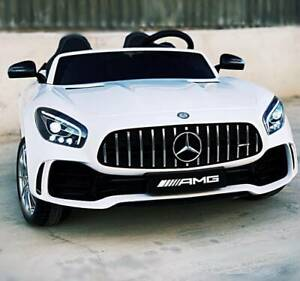 24v Licensed Mercedes AMG GTR 2 seater Kids Ride On Car - White Kingsgrove Canterbury Area Preview