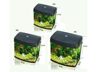 25L and 42L Aquarium Fish Glass Tank Fresh Water LED Light Filter Black