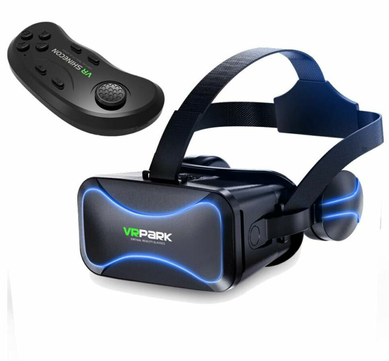 3D Glasses VR Headset Virtual Reality Goggles With Remote For iPhone Samsung