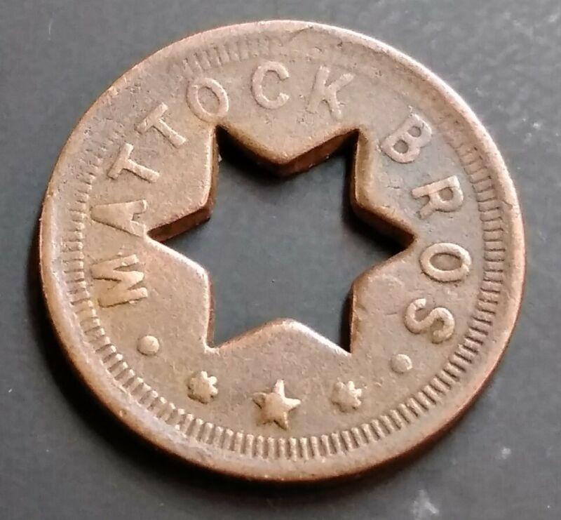 Washington State Trade Token - Bremerton - MATTOCK BROS. Good For 5¢ In Trade