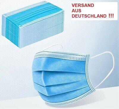 100 Stück Mundschutz Maske Nase Mund Behelfs Community Hygiene 3 lagig Einmal