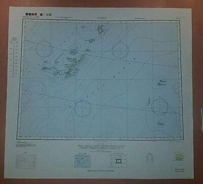 1944 US Army chart Naha Japan w/  Okinawa