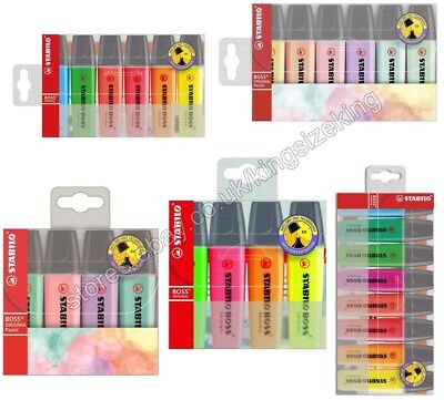STABILO BOSS Highlighter Pens Wallet Chisel Tip 2.5mm Assorted Colour And Pastel (Stabilo Boss Pen Wallet)