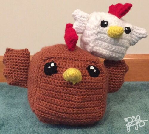 Handmade Crochet Plushie- Cockblock Toy Plush