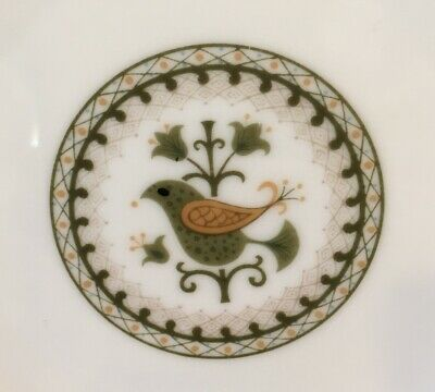 "Vintage NORITAKE HERMITAGE CHINA 6 3/8"" Bread & Butter Plate Pattern 6226 BIRDS"