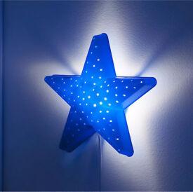 "IKEA BLUE STAR NIGHT LIGHT KIDS WALL LAMP ""Smila Stjarna"" VGC!"